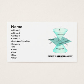O presente é um conceito relativo (o cone claro da cartão de visitas