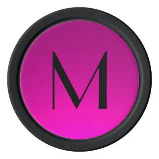 O preto cor-de-rosa desvanece-se microplaquetas de ficha de poquer