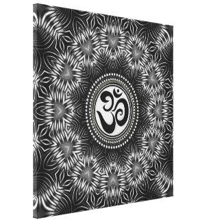 O preto de prata OM assina canvas de NewAge da man Impressão Em Canvas