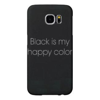O preto é minha capa de telefone feliz de IPhone 6