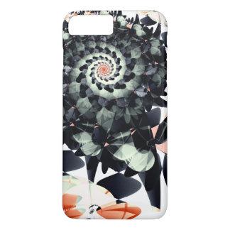 O preto floresce Absract Capa iPhone 7 Plus
