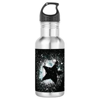 O preto Stars a garrafa de água