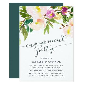 O primavera cora convite da festa de noivado de  