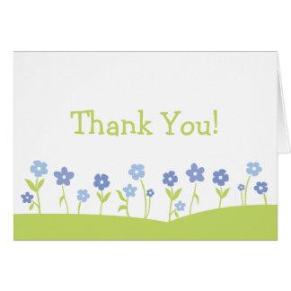 O primavera floresce cartões de agradecimentos