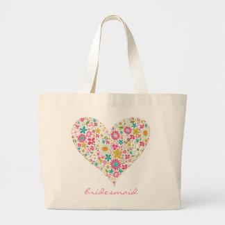 O primavera floresce o coração 2 que Wedding o sac Bolsa De Lona