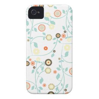 O primavera floresce o teste padrão floral chique  iPhone 4 capas
