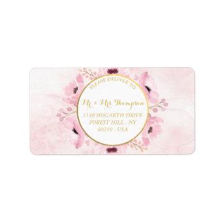 O primavera pica a coleção floral do casamento da etiqueta de endereço