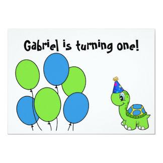 O primeiro aniversario de Gabriel Convite 12.7 X 17.78cm