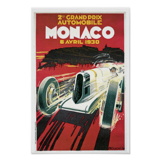 ò Prix grande de Monaco Pôster