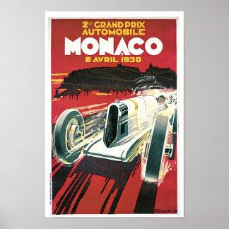 ò Prix grande de Monaco Poster