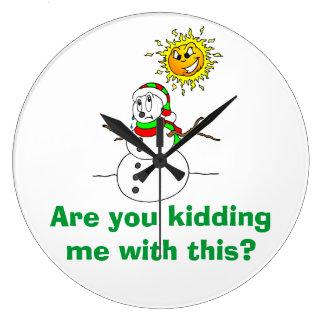 O problema do boneco de neve é você que caçoa me c relógio de parede