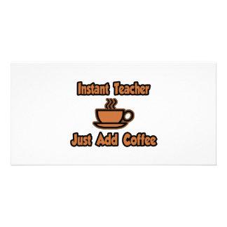 O professor imediato… apenas adiciona o café cartoes com fotos