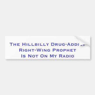 O profeta de direita do viciado em drogas do Hillb Adesivo