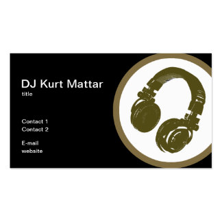 O profissional do DJ Cartão De Visita