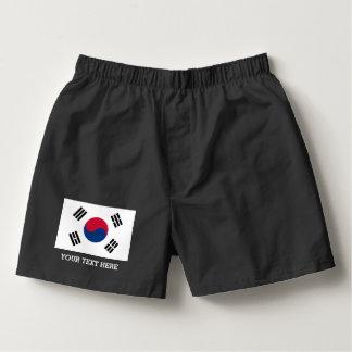 O pugilista coreano sul da bandeira shorts o roupa samba-canção