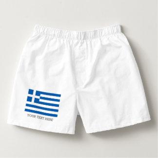 O pugilista grego da bandeira shorts o roupa samba-canção