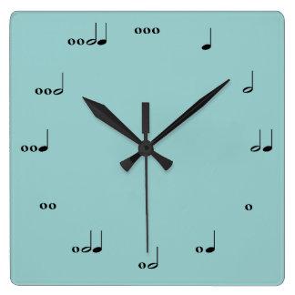 O pulso de disparo da nota da música original relógio para parede
