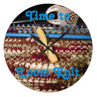 O pulso de disparo do Knitter do tear, malhas Relógios De Pendurar