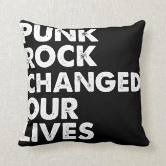 O punk rock mudou nossas vidas almofada