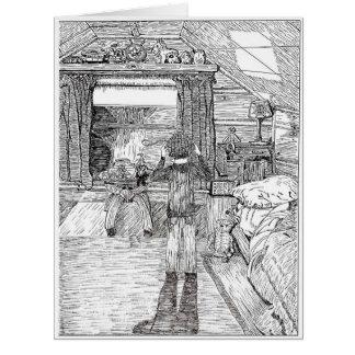 O quarto no sótão cartão comemorativo grande