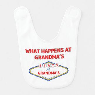 O que acontece nas estadas da avó na avó babadores para bebes