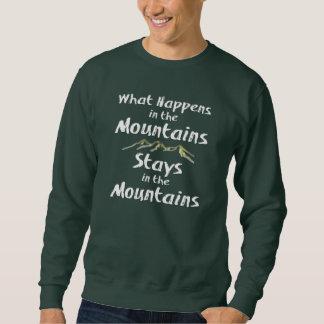 O que acontece nas estadas das montanhas no Mtns Moleton