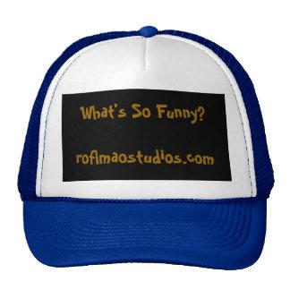 O que é tão engraçado? roflmaostudios.com boné