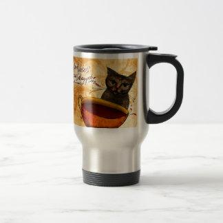 O que meu #Coffee me diz - olhe que o gato Caneca Térmica
