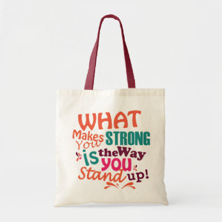 O que o faz forte, sacola bolsa tote