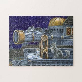 O quebra-cabeça da fantasia dos gatos do astrónomo
