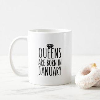 O Queens é em janeiro caneca de café nascida