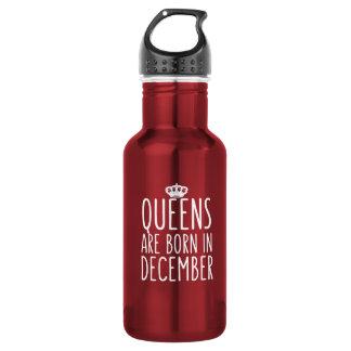 O Queens é nascido em dezembro Garrafa De Aço Inoxidável