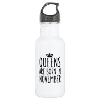 O Queens é nascido em novembro Garrafa De Aço Inoxidável