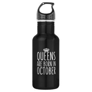 O Queens é nascido em outubro Garrafa De Aço Inoxidável
