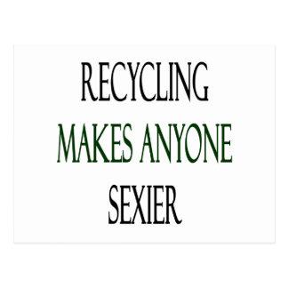 """O reciclagem faz qualquer um mais """"sexy"""" cartão postal"""