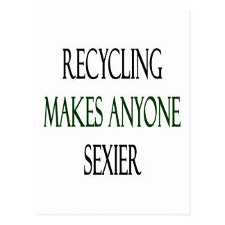 O reciclagem faz qualquer um mais sexy cartão postal
