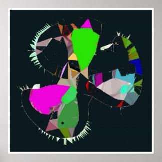 O rei Abstracção Surrealismo Poster Arte do pato