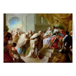 O rei e a rainha católicos cartão comemorativo