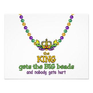 O rei obtem a miçanga GRANDE Convite