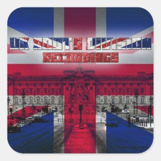 O Reino Unido enraíza gravações da divisão Adesivo Quadrado