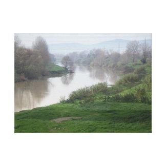 O rio de Arno Florença Impressão Em Canvas