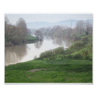 O rio de Arno, Florença, Italia Impressão De Foto