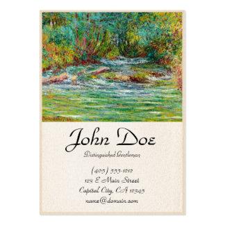 O rio de Epte em Giverny, verão Claude Monet Cartão De Visita Grande