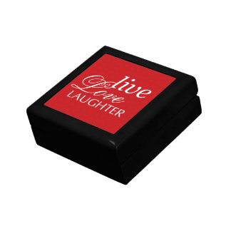 O riso vivo do amor exprime a caixa vermelha do tr caixa de presente
