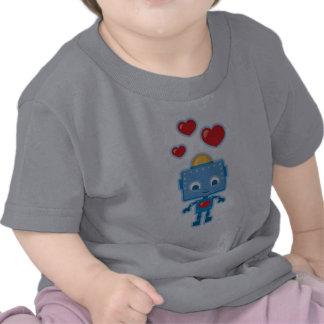 O robô retro bonito personalizado caçoa o T Camisetas