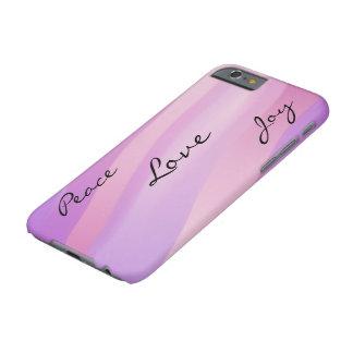 O rosa acena o caso do iPhone 6 do amor Capa Barely There Para iPhone 6