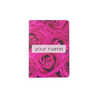 o rosa bonito elegante floresce a foto dos rosas capa para passaporte