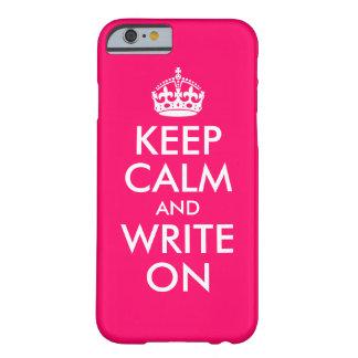 O rosa brilhante mantem a calma e escreve-a sobre capa barely there para iPhone 6