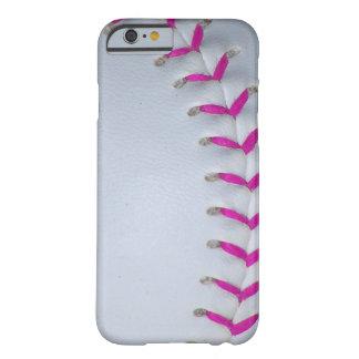 O rosa costura o basebol/softball capa barely there para iPhone 6