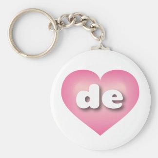 O rosa de Delaware de desvanece-se coração Chaveiros